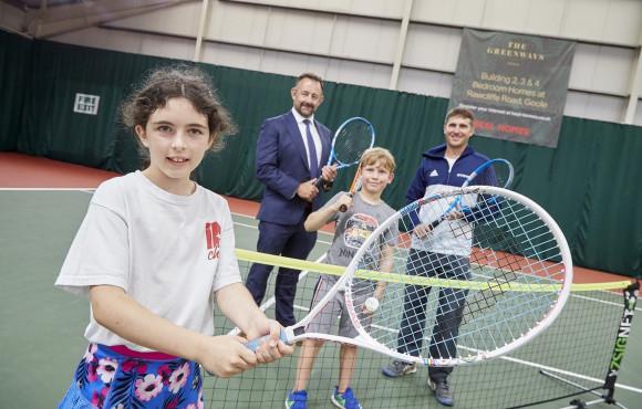 Housebuilder serves up inspiration for next generation with tennis partnership image