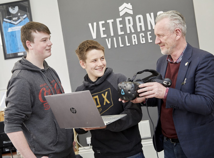 Students learn tech skills to bring Veterans Village to life feature image